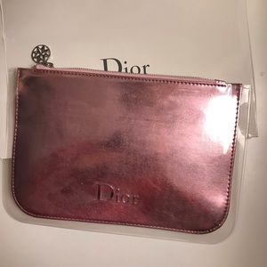 Dior pink clutch/pouch/comestic/make up bags New